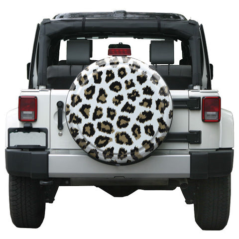 Colortek Rigid™ White or Pink Leopard Tire Cover (Liberty KJ, Wrangler CJ, YJ, TJ, & JK)