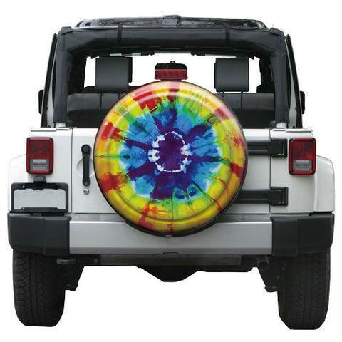 Colortek Rigid™ Tye Dye Tire Cover (Liberty KJ, Wrangler CJ, YJ, TJ, & JK)