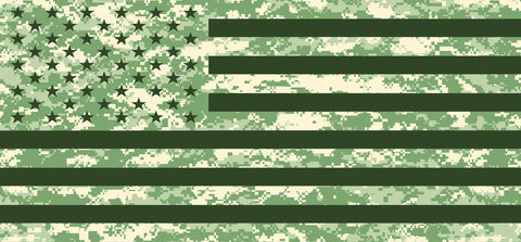 """American Flag Digital Green Camo"" Grille Insert From Dirty Acres (Wrangler, Gladiator, Renegade, G.Cherokee)"