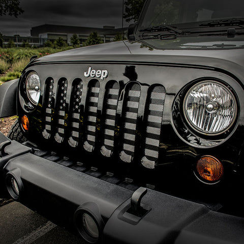 Grille Inserts, Chrome by Rugged Ridge ('07-'18 Jeep Wrangler JK)