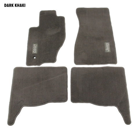 Mopar Carpet Mat Set, Dark Khaki, ('05-'10 Grand Cherokee WK)