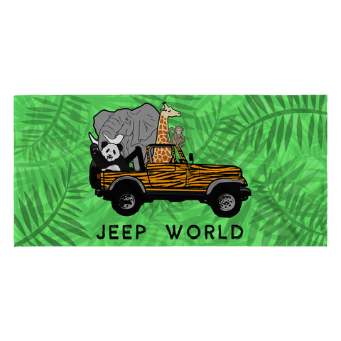 Jeep World Safari Beach Towel