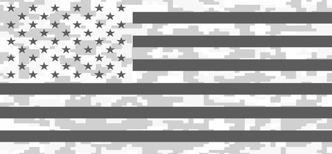 """Ghost American Flag Digital Camo"" Grille Insert From Dirty Acres (Wrangler, Gladiator, Renegade, G.Cherokee)"