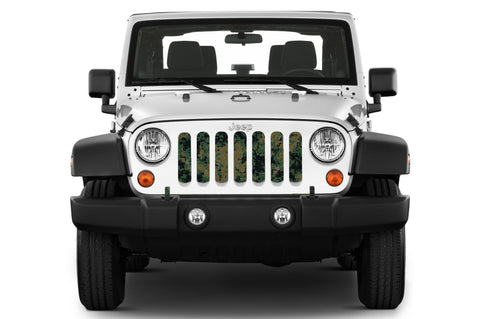 """Green Digi Camo"" Grille Insert by Dirty Acres (Wrangler, Gladiator)"