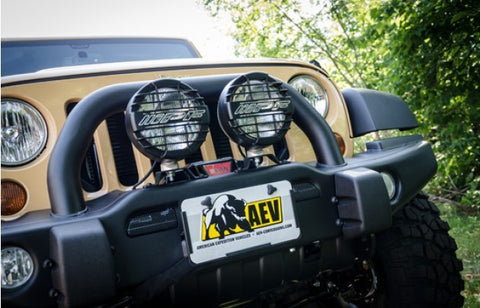 AEV Hawse Fairlead License Plate Mounting Kit ('07-'18 Wrangler JK)