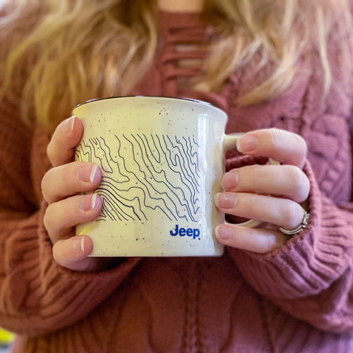 Jeep Topography Map Ceremic Mug