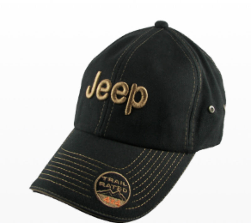 Jeep Trail Rated Hat-Black