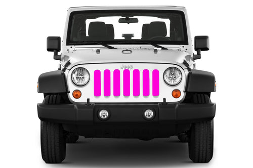 Jeep grille insert - pink