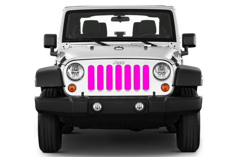 """Solid Color"" Grille Insert by Dirty Acres (Wrangler, Gladiator, Renegade, G.Cherokee)"