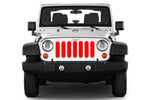 Jeep grille insert - red