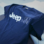 Jeep Get There blue t shirt