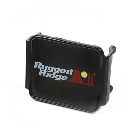 Rugged Ridge LED Light Cover, 3 Inch Square, Black (Universal)