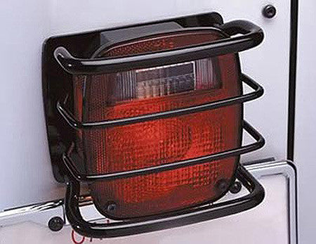 Rampage Black Rear Euro Light Guard, 2 Piece Kit - 8660 ('76-'06 Wrangler CJ, YJ, TJ)