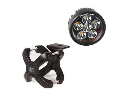 Rugged Ridge 2.25in.-3in. Black X-Clamp & One 3.5 inch round 18 watt LED Light (Universal)