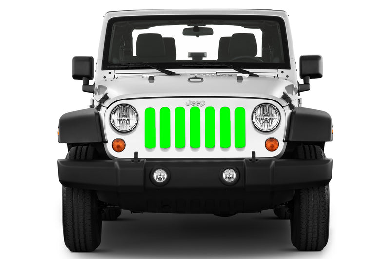 Jeep grille insert - lime