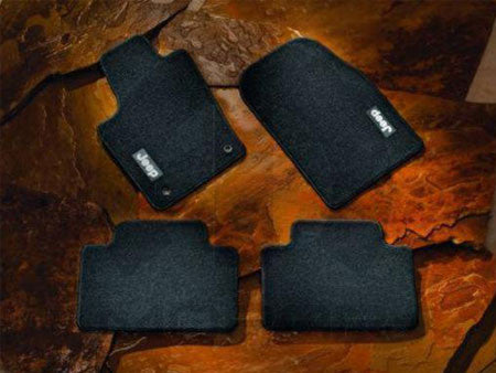 floor mats, Jeep, black