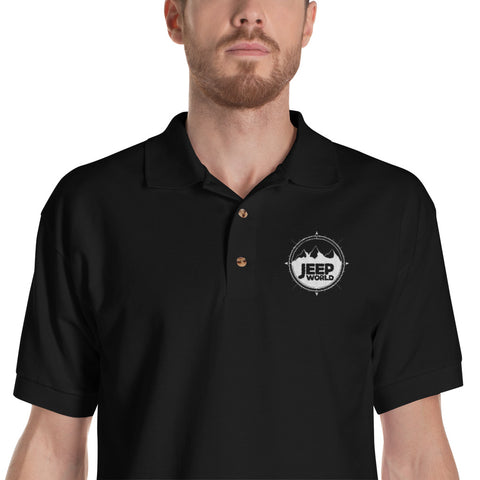 Jeep World Embroidered Polo Shirt