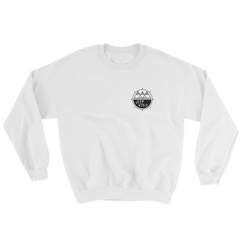 JeepWorld.com Desert Crewneck Sweatshirt, White