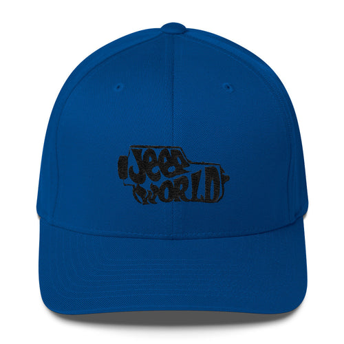 Jeep World FlexFit Structured Twill Cap