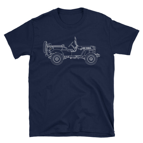Jeep World Willy's MB shirt - navy blue