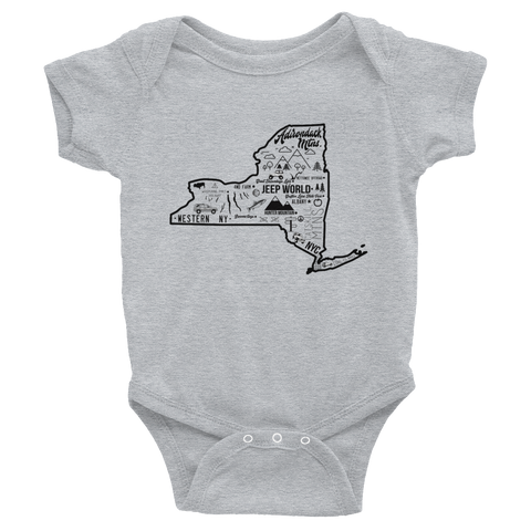 Jeep World New York Infant Onesie