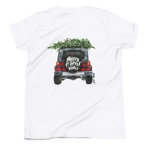 Youth Plaid TJ Christmas T-Shirt