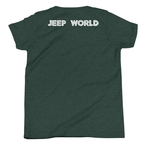 Jurassic Jeep Youth T-Shirt by Jeepworld