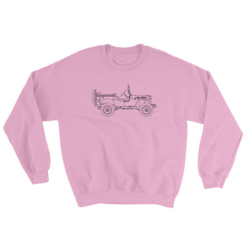 Jeep World Willy's MB Crewneck Sweatshirt, Pink
