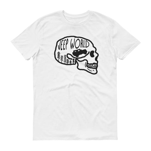 Jeep World Black Skull Short Sleeve T-Shirt