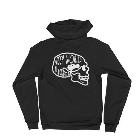 Jeep World Skull Zip Hoodie Sweater