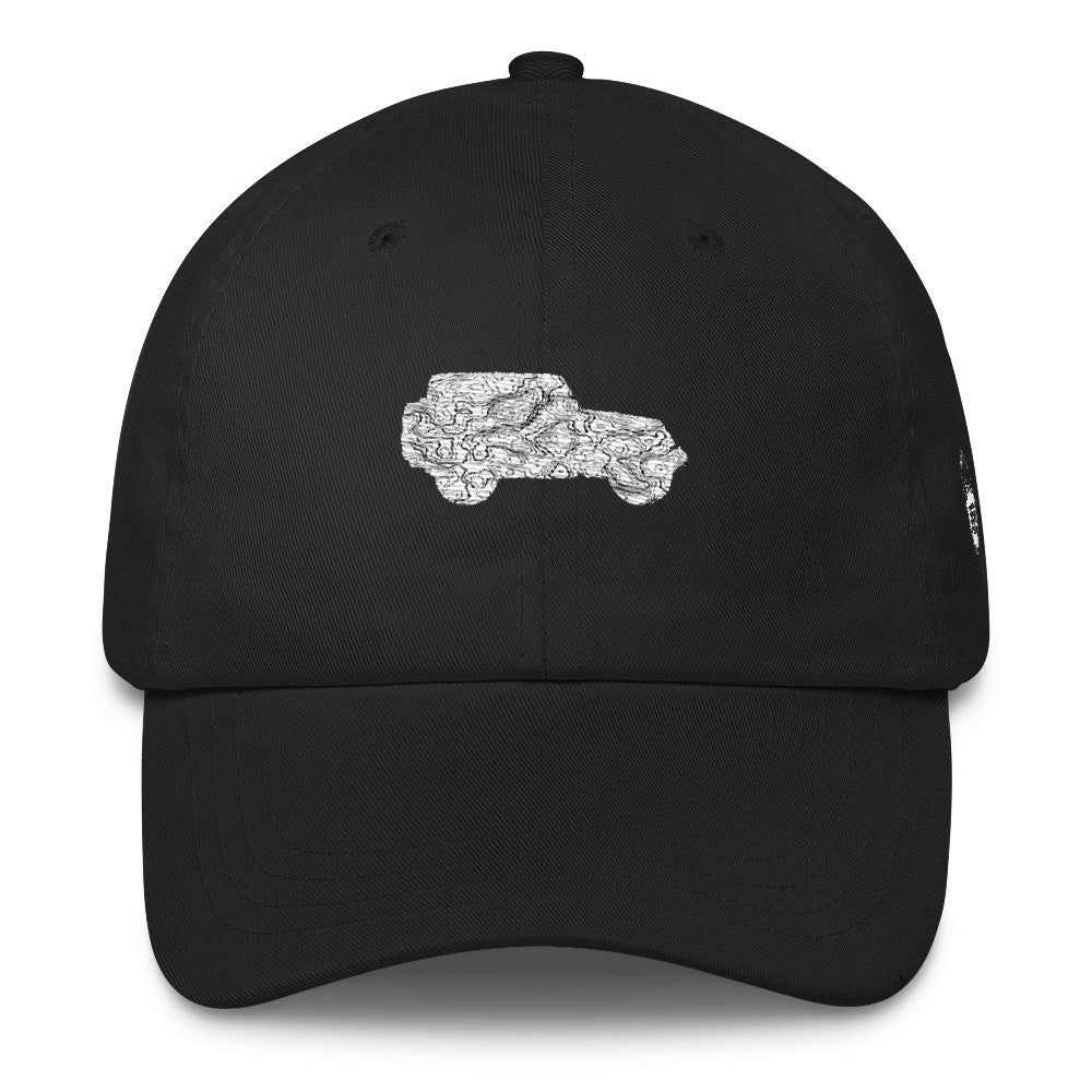 black Jeep hat - topography map