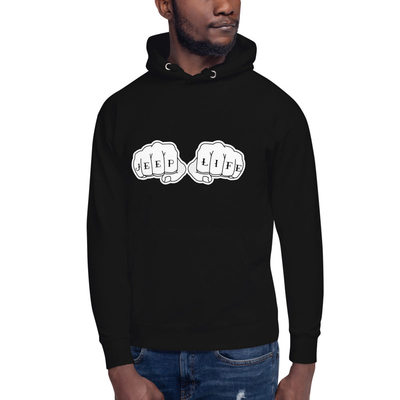 Jeep Life Knuckle Tats Hoodie by Jeep World