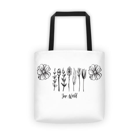 Jeep World Floral Tote Bag