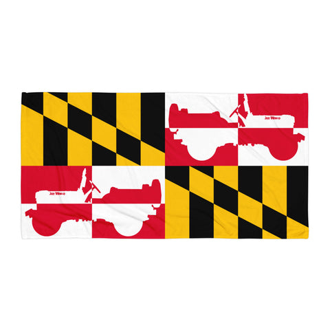 Maryland Jeep Beach Towel