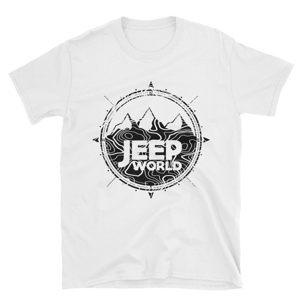 Jeep World white t shirt