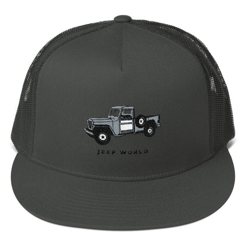 Throwback Thursday Willy's Jeep Truck Trucker Cap