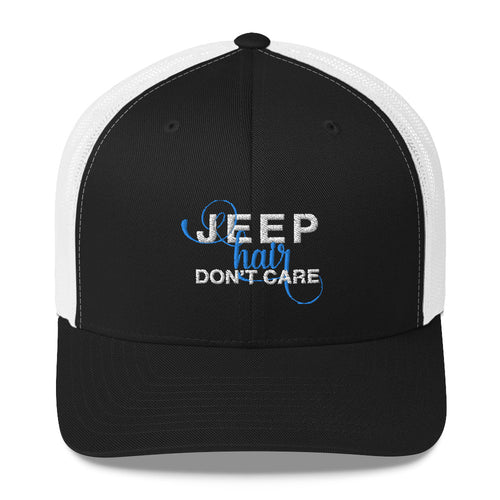 Jeep Hair, Don't Care Trucker Hat by Jeep World