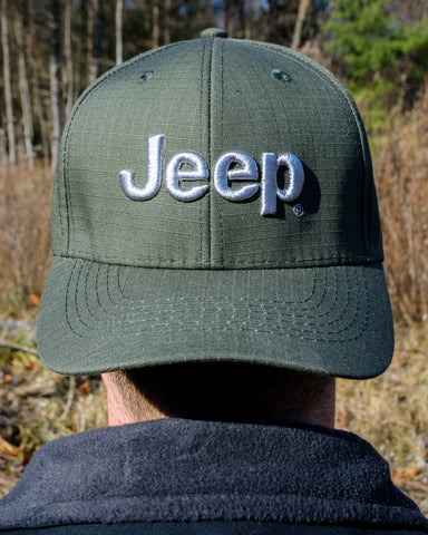 Jeep Logo Olive Green Cap