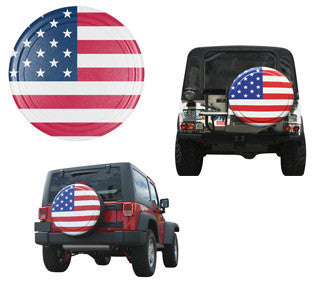 Boomerang Rigid American Flag Jeep Tire Covers
