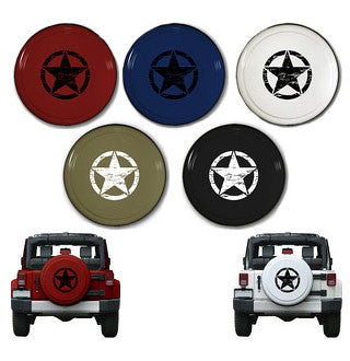 "Oscar Mike 32"" Rigid Jeep Tire Cover (Wrangler CJ, YJ, TJ, & JK)"