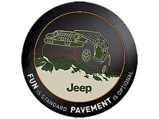 Mopar Pavement is Optional Tire Cover (Liberty KJ, Wrangler CJ, YJ, TJ, & JK)