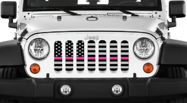 breast cancer awareness Jeep grill insert