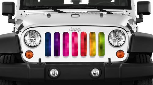 """Pixelation"" Grille Insert by Dirty Acres ('76 - '18 Wrangler CJ, YJ, TJ, LJ, JK, JKU) - Jeep World"