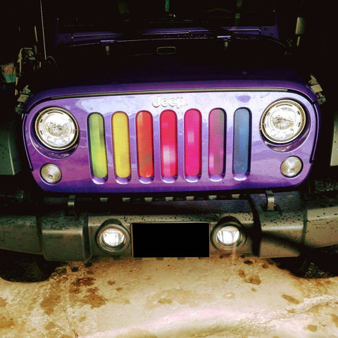 """Pixelation"" Grille Insert by Dirty Acres ('76 - '19 Wrangler CJ, YJ, TJ, LJ, JK, JL)"