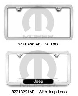 Bright Polished, License Plate Frame (Universal) - Jeep World