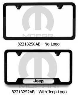 Satin Black, License Plate Frame (Universal) - Jeep World