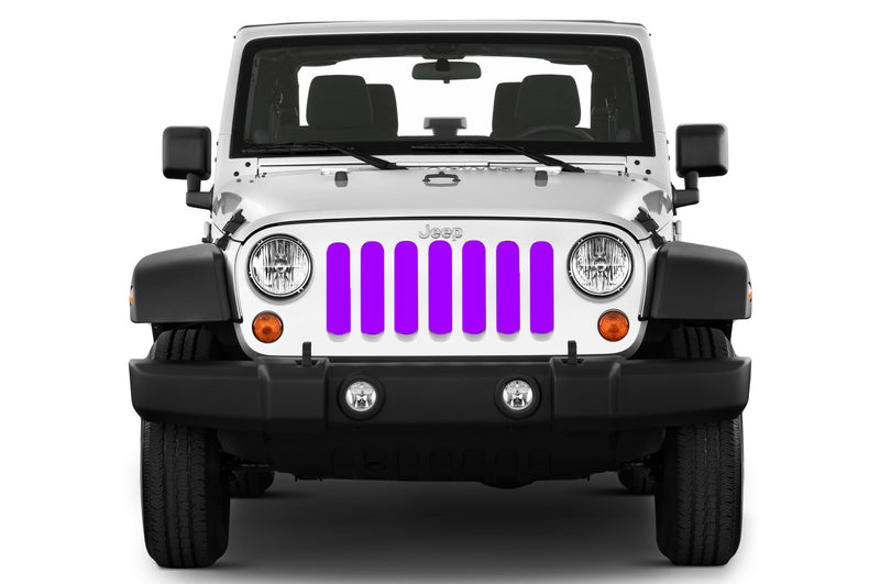 Jeep grille insert - purple