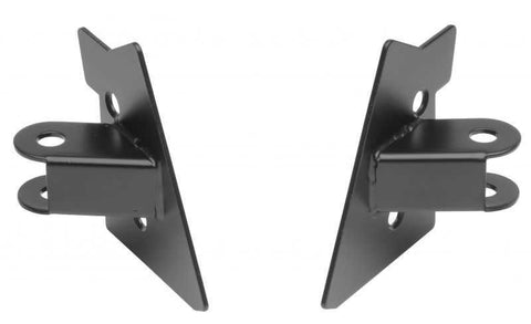 Rampage Mirror Relocation Brackets, Black ('97-'02 Wrangler TJ)