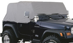 Rampage Cab Cover, Gray with Door Flaps ('76-'91 Wrangler CJ, YJ)
