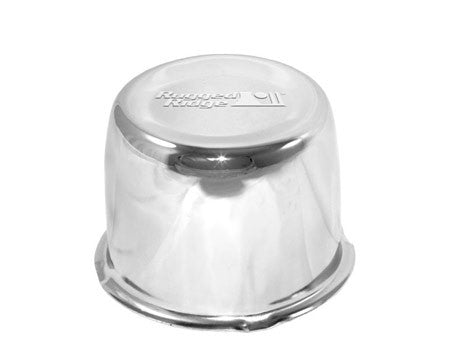 Rugged Ridge Chrome Center Cap, for Rugged Ridge Steel Wheels with 5 on 4.5 backspacing (Wrangler CJ, YJ, TJ, JK)